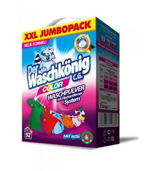Proszek do prania Der Waschkönig C.G. Color 7,5 kg - 92 WL